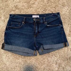 LOFT Denim Shorts Cuffed Size 26